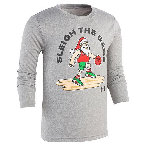 "Boys 4-7 Under Armour ""Sleigh The Game"" Santa Basketball Graphic Tee"