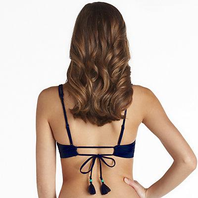 Mix and Match Grommet Detail Bralette Swim Top