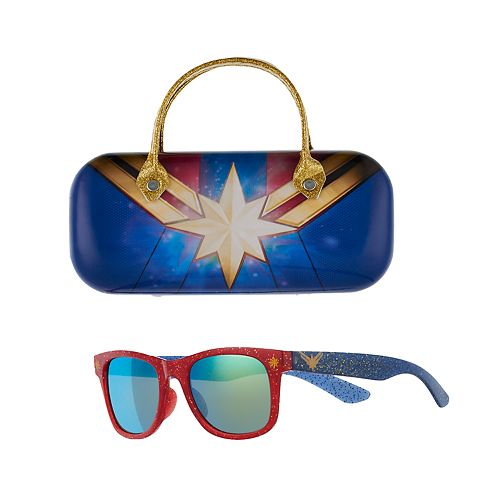 Girls 4-16 Captain Marvel Sunglasses with Case Set