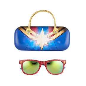 Girls 4-16 Captain Marvel Sunglasses with Case Set