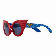 8a801c8a39e2b Girls 4-16 DC Comics Wonder Woman Winged Sunglasses