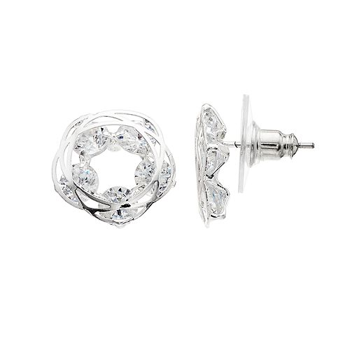 LC Lauren Conrad Simulated Crystal Button Stud Earrings