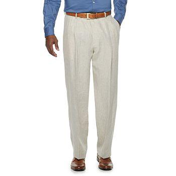 Men's Palm Beach Oxford Classic-Fit Linen Pleated Suit Pants