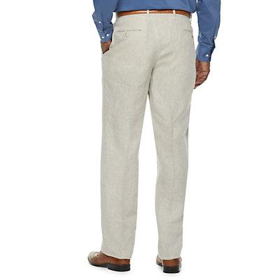 Men's Palm Beach Oxford Classic-Fit Linen Flat-Front Suit Pants