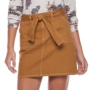 Juniors' Tinseltown Self Belt Mini Skirt