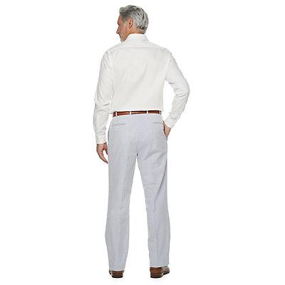 Men's Palm Beach Oxford Classic-Fit Seersucker Pleated Suit Pants
