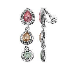 Napier Linear Drop Earrings