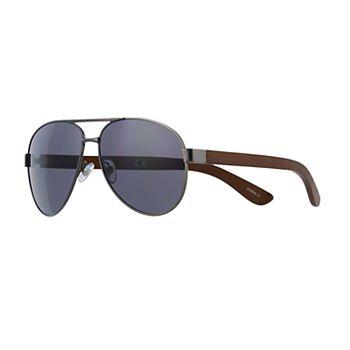 Men's Dockers Gunmetal Aviator Sunglasses