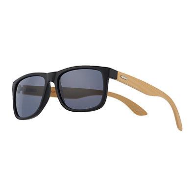 Men's Dockers Matte Black Wood Temple Sunglasses
