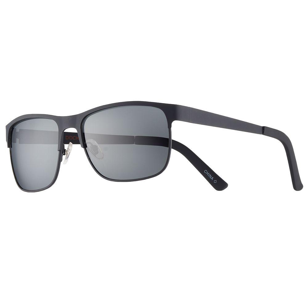 Men's Dockers Rubberized Wrap Polarized Sunglasses