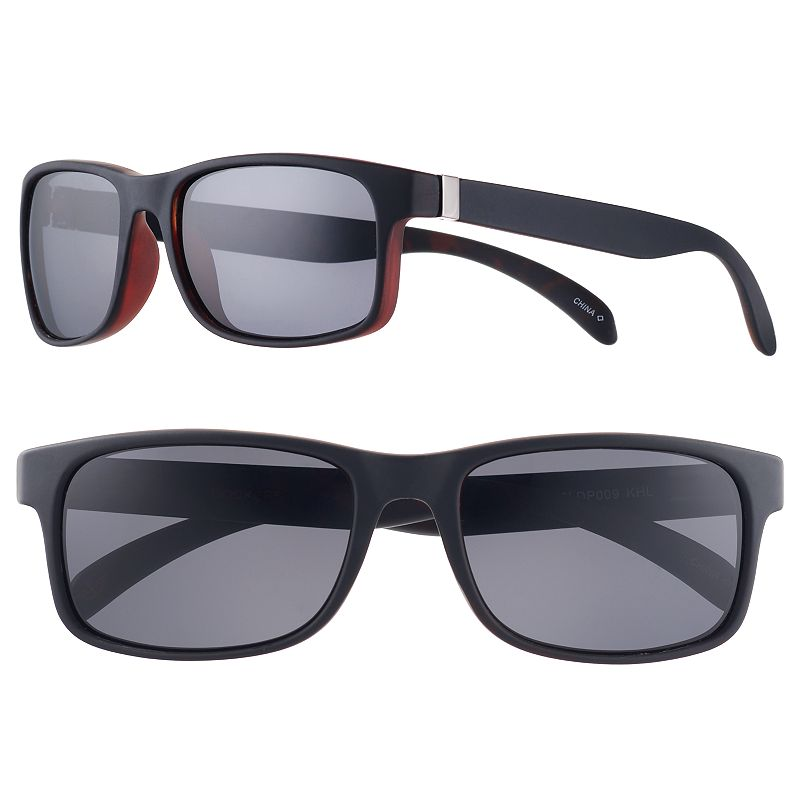 Men's Dockers Polarized Matte Sunglasses, Oxford Cool and casual. When the sun is out, these men's Dockers sunglasses give you a stylish attitude. Polarization helps prevent glare Ultraviolet protection Black matte finish FIT & SIZING One size fits most Eye/bridge/temple/vertical size: 54/20/134/39 mm For men Plastic Wipe clean Imported WARNING: Cancer and Reproductive Harm. For more information, go to www.P65warnings.ca.gov. Color: Oxford. Gender: male. Age Group: adult.