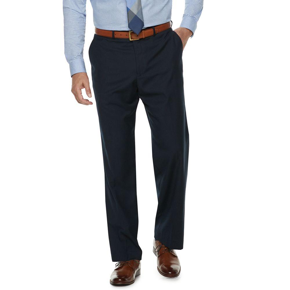 Men's Palm Beach Oxford Classic-Fit Flat-Front Suit Pants