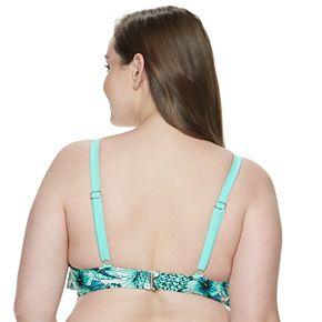 Plus Size Mix and Match Pineapple Flounce Bikini Top