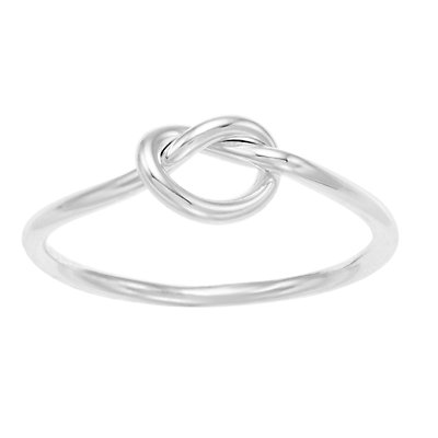 LC Lauren Conrad Silver Tone Knotted Ring