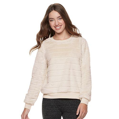 Juniors' Almost Famous Plush Sweatshirt