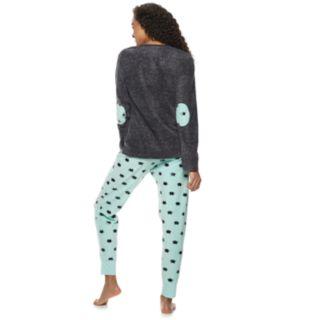 Juniors' PJ Couture Microfleece Tee & Jogger Pajama Set