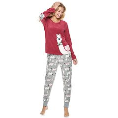 Juniors' PJ Couture Microfleece Tee & Jogger Pajama Set