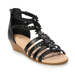 2c9b135d5c62 Girls Black Wedges Kids Little Kids Shoes
