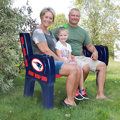 New England Patriots Park Bench