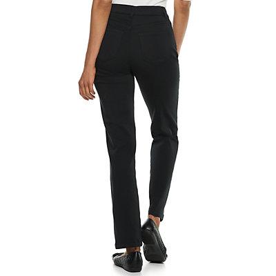 Petites Croft & Barrow® Super Stretch Straight-Leg Pants