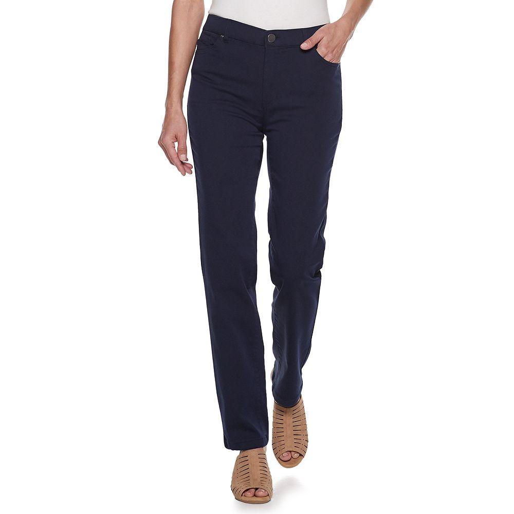 Petite Croft & Barrow® Super Stretch Straight-Leg Pants