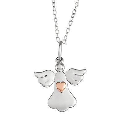 My Shield My Strength Sterling Silver Angel Pendant