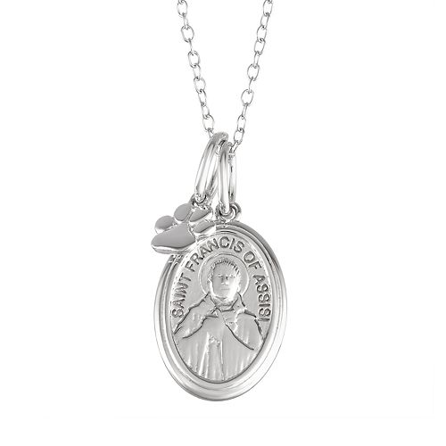 My Shield My Strength Sterling Silver St. Francis of Assisi Pendant