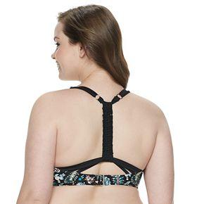 Plus Size Mix and Match Braided Racerback Flounce Bikini Top