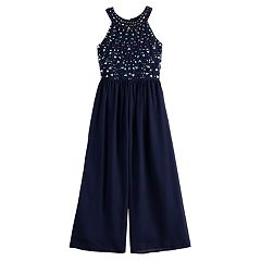 Girls 7-16 Love, Jayne Sequin Maxi Jumpsuit