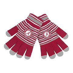 Adult Alabama Crimson Tide Striped Knit Gloves