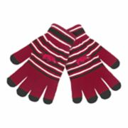 Adult Arkansas Razorbacks Striped Knit Gloves