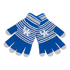 Adult Kentucky Wildcats Striped Knit Gloves