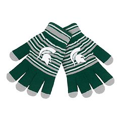 Adult Michigan State Spartans Striped Knit Gloves