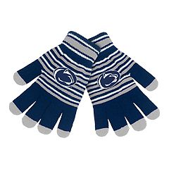 Adult Penn State Nittany Lions Striped Knit Gloves