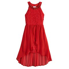 Girls 7-16 Love, Jayne Paisley Lace Walkthrough Dress