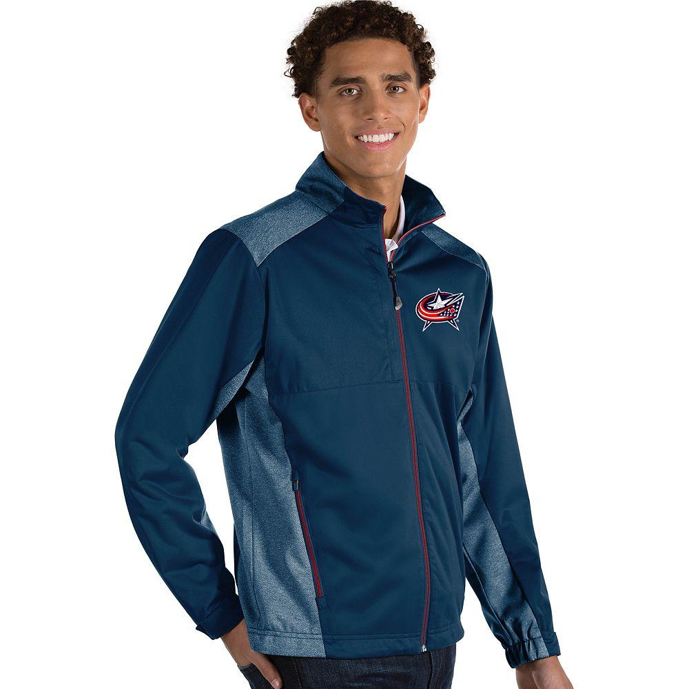 Antigua Men's Revolve Columbus Blue Jackets Full Zip Jacket