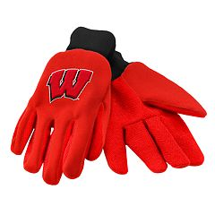 NCAA Wisconsin Badgers Team Logo Utility Gloves