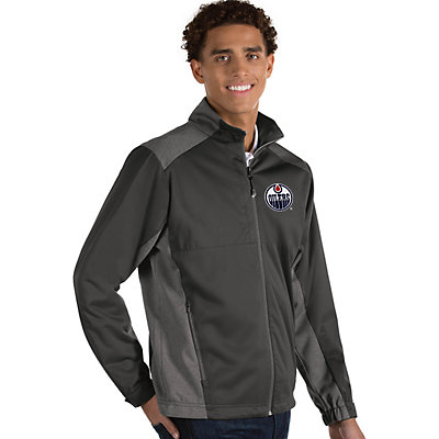 Antigua Men's Revolve Edmonton Oilers Full Zip Jacket