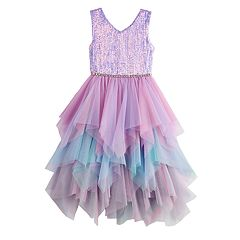 Girls 7-16 Love, Jayne Fairy Hem Sequin Dress