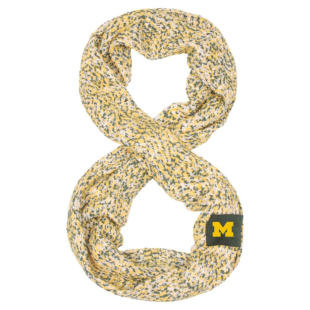 Women's Michigan Wolverines Chunky Infinity Scarf