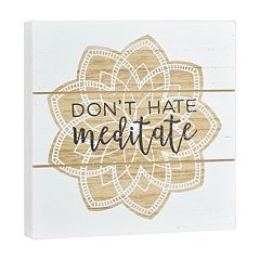 Belle Maison 'Meditate' Box Sign Art