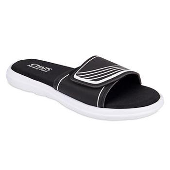 Men's Chaps Striped Memory Foam Slide Sandals