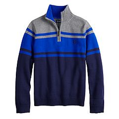 Boys 4-20 Chaps Bruce Colorblock Quarter-Zip Sweater