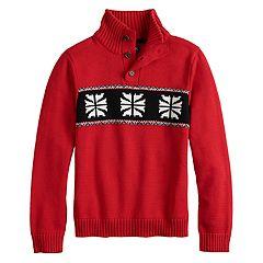 Boys 4-20 Chaps Arthur Snowflake Sweater