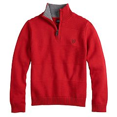 Boys 4-20 Chaps Raymond Quarter-Zip Sweater