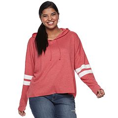 Juniors' Plus Size SO® Varsity Hoodie