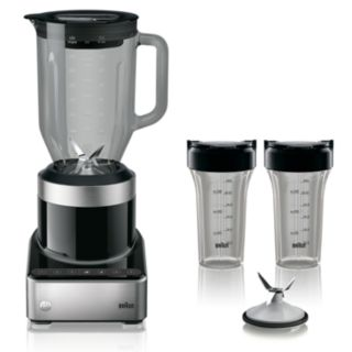 Braun PureMix Power Blender with Thermal Resistant Glass Jug & Smoothie2Go Blending Cups