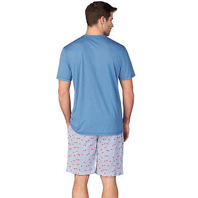 Men's Cuddl Duds Crewneck Pocket Tee & Sleep Shorts Set