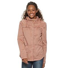 Juniors' SO® Hooded Shirttail Jacket