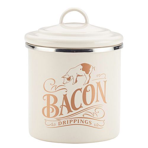 Ayesha Curry Enamel-on-Steel Bacon Grease Can